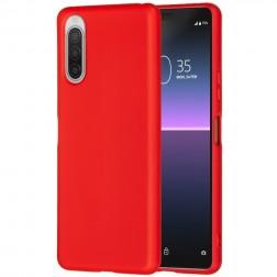 """""""Shell"""" kieto silikono (TPU) dėklas - raudonas (Xperia 10 II)"""