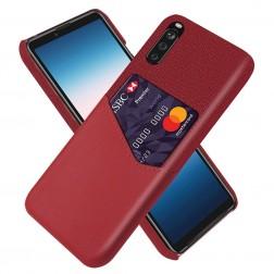 """""""KSQ"""" Shell dėklas su kišenėle - raudonas (Xperia 10 III)"""
