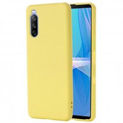 """""""Shell"""" kieto silikono (TPU) dėklas - geltonas (Xperia 10 III)"""