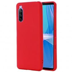 """""""Shell"""" kieto silikono (TPU) dėklas - raudonas (Xperia 10 III)"""