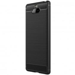 """""""Carbon"""" kieto silikono (TPU) dėklas - juodas (Xperia 10 Plus)"""
