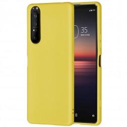 """""""Shell"""" kieto silikono (TPU) dėklas - geltonas (Xperia 1 II)"""
