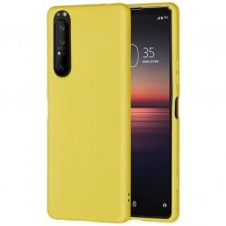 """""""Shell"""" kieto silikono (TPU) dėklas - geltonas (Xperia 5 II)"""