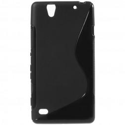 Kieto silikono (TPU) dėklas - juodas (Xperia C4)