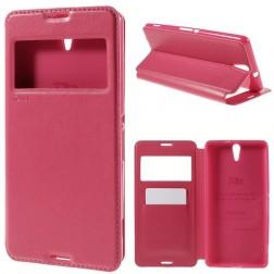 """""""Roar"""" Noble atverčiamas dėklas - rožinis (Xperia C5 Ultra)"""