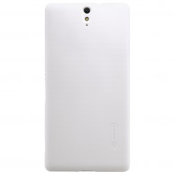 """""""Nillkin"""" Frosted Shield dėklas - baltas + apsauginė ekrano plėvelė (Xperia C5 Ultra)"""