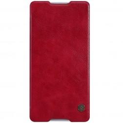 """""""Nillkin"""" Qin atverčiamas dėklas - raudonas (Xperia C5 Ultra)"""