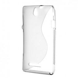 """S-Line"" kieto silikono (TPU) dėklas - baltas (Xperia E)"