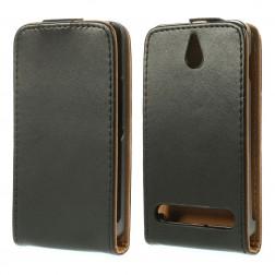 Klasikinis atverčiamas dėklas - juodas (Xperia E1)