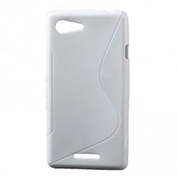 Kieto silikono dėklas - baltas (Xperia E3)