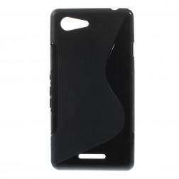 Kieto silikono dėklas - juodas (Xperia E3)