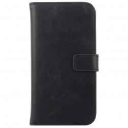Atverčiamas odinis dėklas - juodas (Xperia E4)