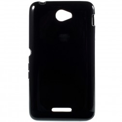 Kieto silikono (TPU) dėklas - juodas (Xperia E4)