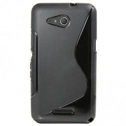 Kieto silikono (TPU) dėklas - juodas (Xperia E4g)