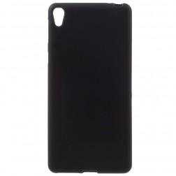 Kieto silikono (TPU) dėklas - juodas (Xperia E5)