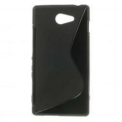 Kieto silikono dėklas - juodas (Xperia M2 Aqua)