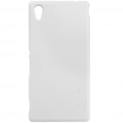 """""""Nillkin"""" Frosted Shield dėklas - baltas + apsauginė ekrano plėvelė (Xperia M4 Aqua)"""