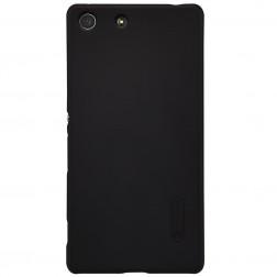 """""""Nillkin"""" Frosted Shield dėklas - juodas + apsauginė ekrano plėvelė (Xperia M5)"""
