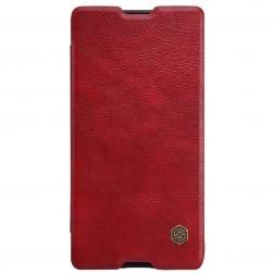 """""""Nillkin"""" Qin atverčiamas dėklas - raudonas (Xperia M5)"""