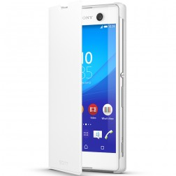 """""""Sony"""" Style Cover Stand atverčiamas dėklas - baltas (Xperia M5)"""