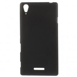Kieto silikono (TPU) dėklas - juodas (Xperia T3)