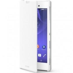 """""""Sony"""" Style Cover Stand atverčiamas dėklas - baltas (Xperia T3)"""