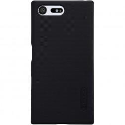 """""""Nillkin"""" Frosted Shield dėklas - juodas + apsauginė ekrano plėvelė (Xperia X Compact)"""