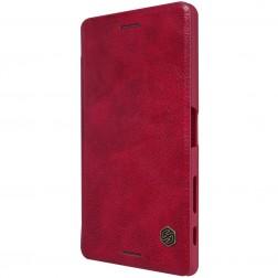 """""""Nillkin"""" Qin atverčiamas dėklas - raudonas (Xperia X)"""