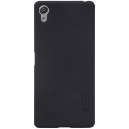 """""""Nillkin"""" Frosted Shield dėklas - juodas + apsauginė ekrano plėvelė (Xperia X Performance)"""