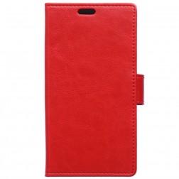 Atverčiamas dėklas, knygutė - raudonas (Xperia X Performance)