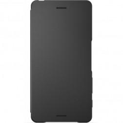 """""""Sony"""" Style Cover Flip atverčiamas dėklas - juodas (Xperia X)"""
