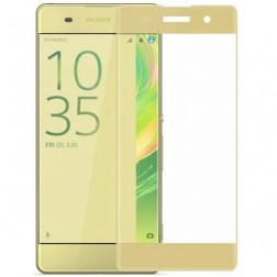 """3D Rewan"" Tempered Glass apsauginis ekrano stiklas 0.26 mm - auksinis (Xperia XA)"