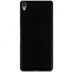 Kieto silikono (TPU) dėklas - juodas (Xperia XA Ultra)