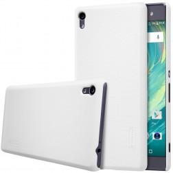 """""""Nillkin"""" Frosted Shield dėklas - baltas + apsauginė ekrano plėvelė (Xperia XA Ultra)"""