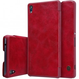 """""""Nillkin"""" Qin atverčiamas dėklas - raudonas (Xperia XA Ultra)"""