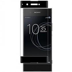 """""""Calans"""" Tempered Glass pilnai dengiantis apsauginis ekrano stiklas 0.2 mm - juodas (Xperia XA1)"""