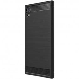"""""""Carbon"""" kieto silikono (TPU) dėklas - juodas (Xperia XA1)"""
