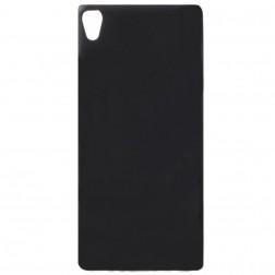 Kieto silikono (TPU) dėklas - juodas (Xperia XA1)