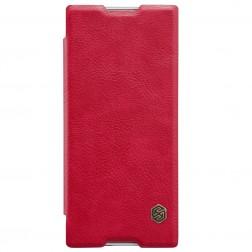 """""""Nillkin"""" Qin atverčiamas dėklas - raudonas (Xperia XA1)"""