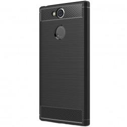 """""""Carbon"""" kieto silikono (TPU) dėklas - juodas (Xperia XA2)"""