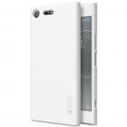 """""""Nillkin"""" Frosted Shield dėklas - baltas + apsauginė ekrano plėvelė (Xperia XZ Premium)"""