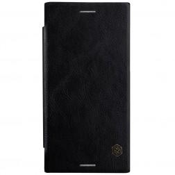 """""""Nillkin"""" Qin atverčiamas dėklas - juodas (Xperia XZ Premium)"""