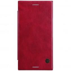 """""""Nillkin"""" Qin atverčiamas dėklas - raudonas (Xperia XZ Premium)"""