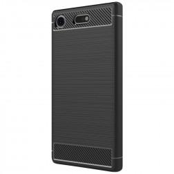 """""""Carbon"""" kieto silikono (TPU) dėklas - juodas (Xperia XZ1 Compact)"""