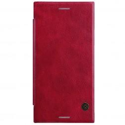 """""""Nillkin"""" Qin atverčiamas dėklas - raudonas (Xperia XZ1)"""