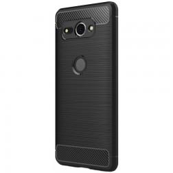 """""""Carbon"""" kieto silikono (TPU) dėklas - juodas (Xperia XZ2 Compact)"""
