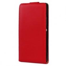 Klasikinis atverčiamas dėklas - raudonas (Xperia Z)