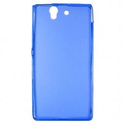 Kieto silikono (TPU) dėklas - mėlynas (Xperia Z)