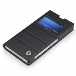 """""""Rock"""" Excel atverčiamas dėklas - juodas (Xperia Z1 Compact)"""