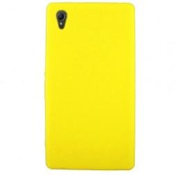 Silikoninis dėklas - geltonas (Xperia Z1)